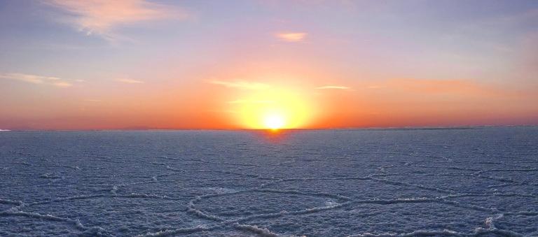 lever du soleil Salar d'Uyuni Bolivie