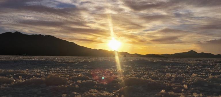 coucher du soleil Salar d'Uyuni Bolivie