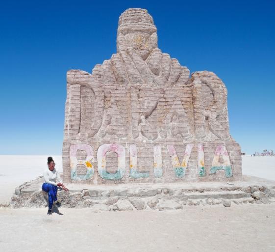 Statue de sel salar d'uyuni Bolivie